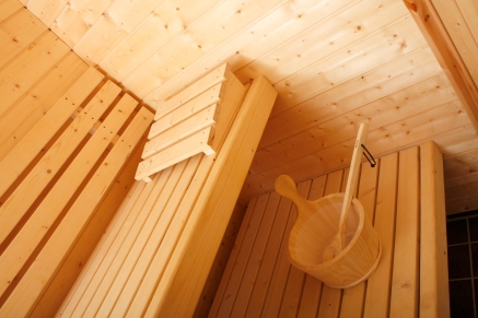 A beautiful sauna